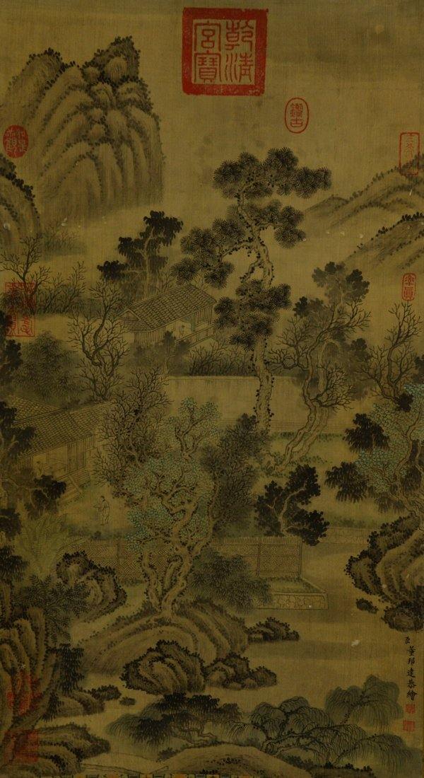 23: Chinese Watercolour Imperial Painting Tong Bang Da