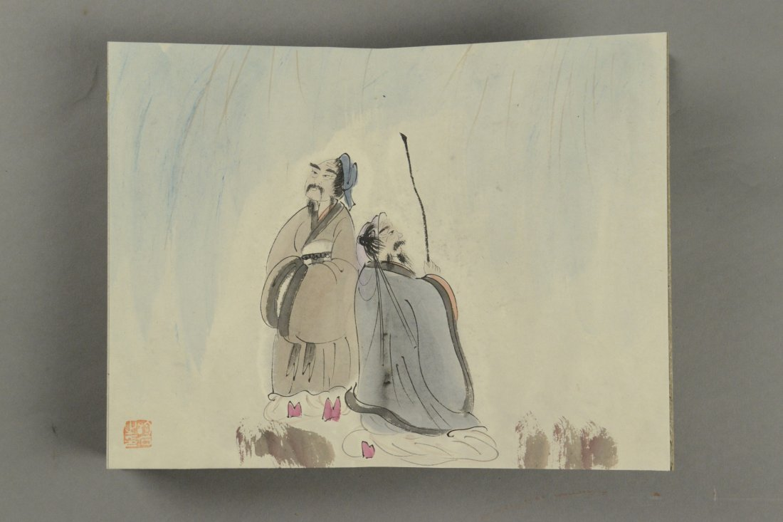16 Pages Painting Book by Fu Baoshi Sealed