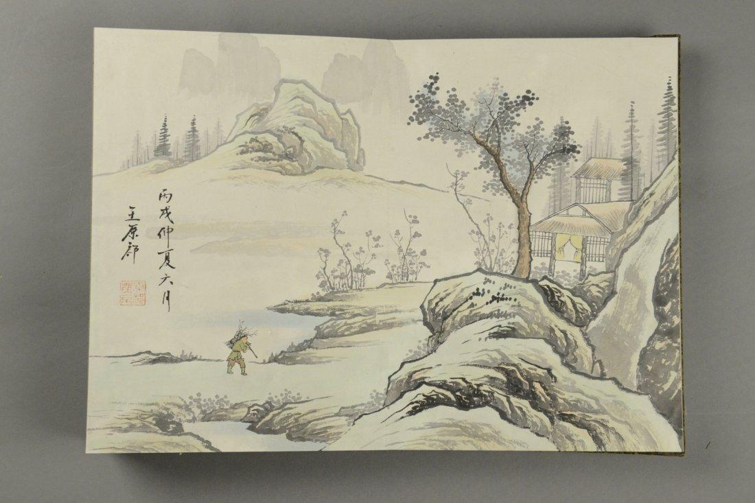 10 Pages Painting Book Signed Wang Yuan Qi - 2