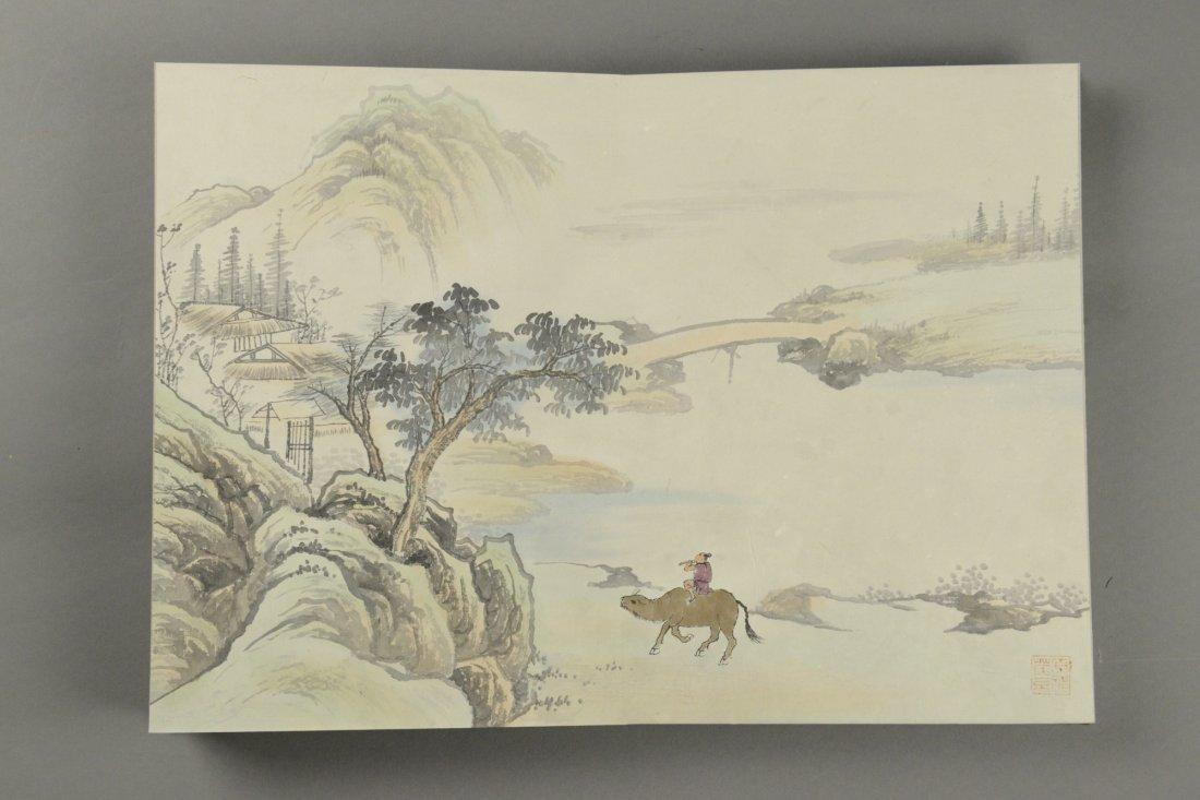 10 Pages Painting Book Signed Wang Yuan Qi - 3