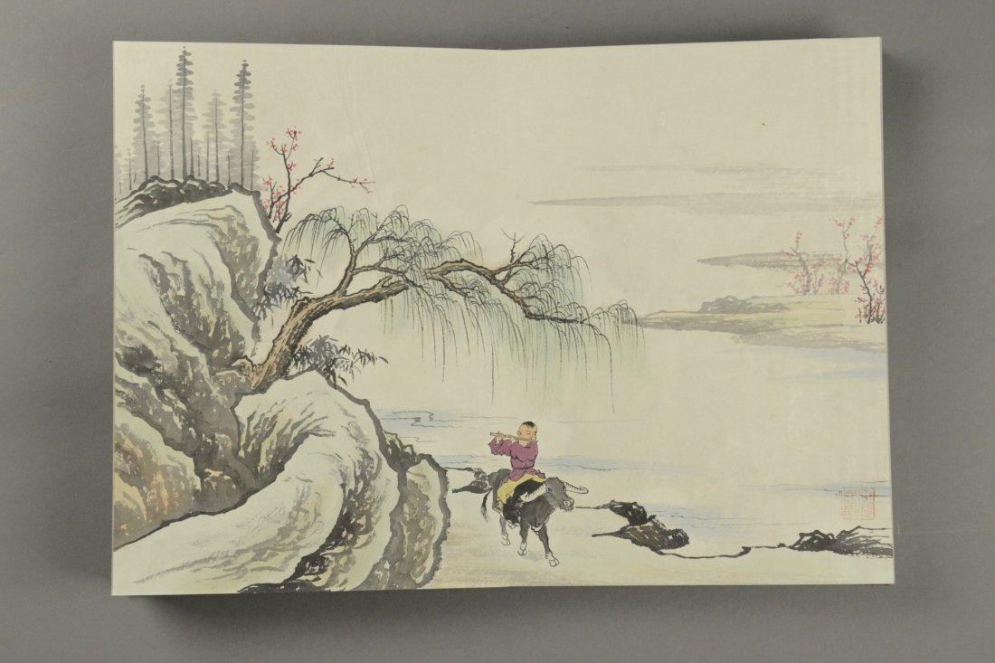 10 Pages Painting Book Signed Wang Yuan Qi - 4