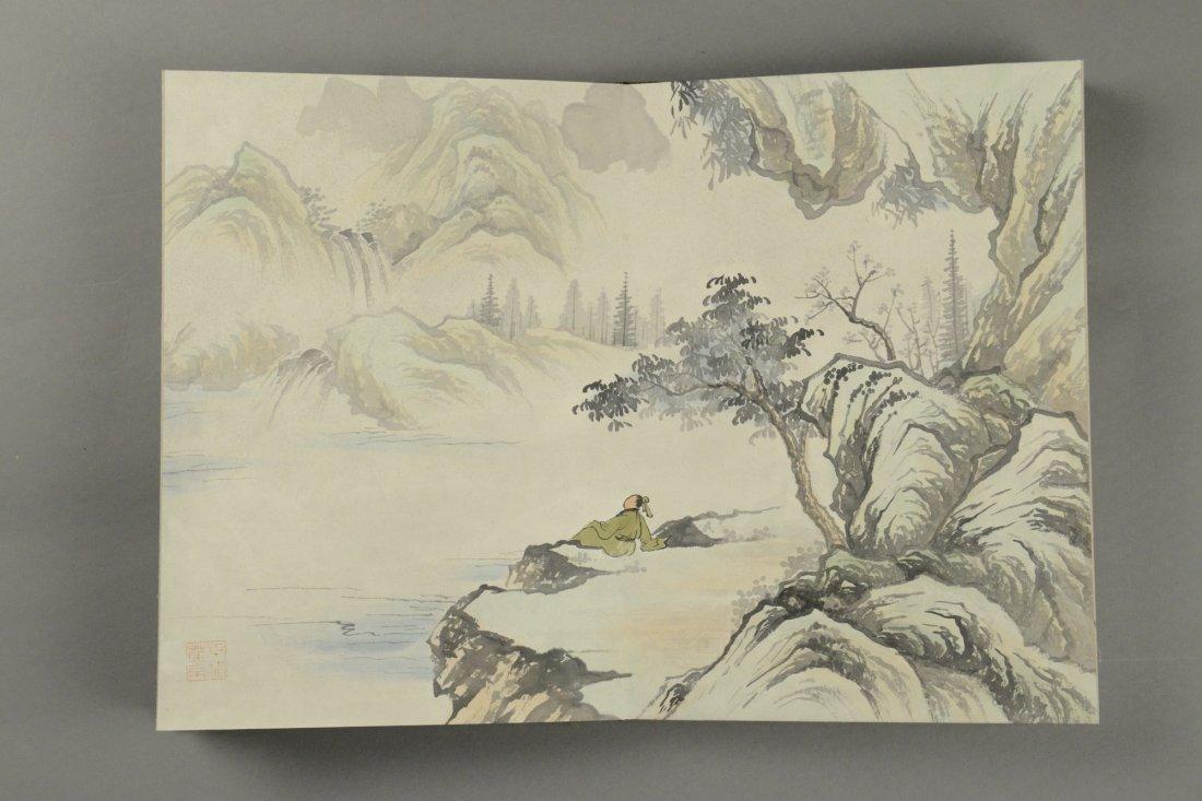10 Pages Painting Book Signed Wang Yuan Qi - 7