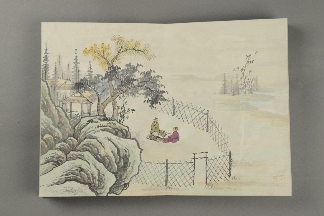 10 Pages Painting Book Signed Wang Yuan Qi - 8