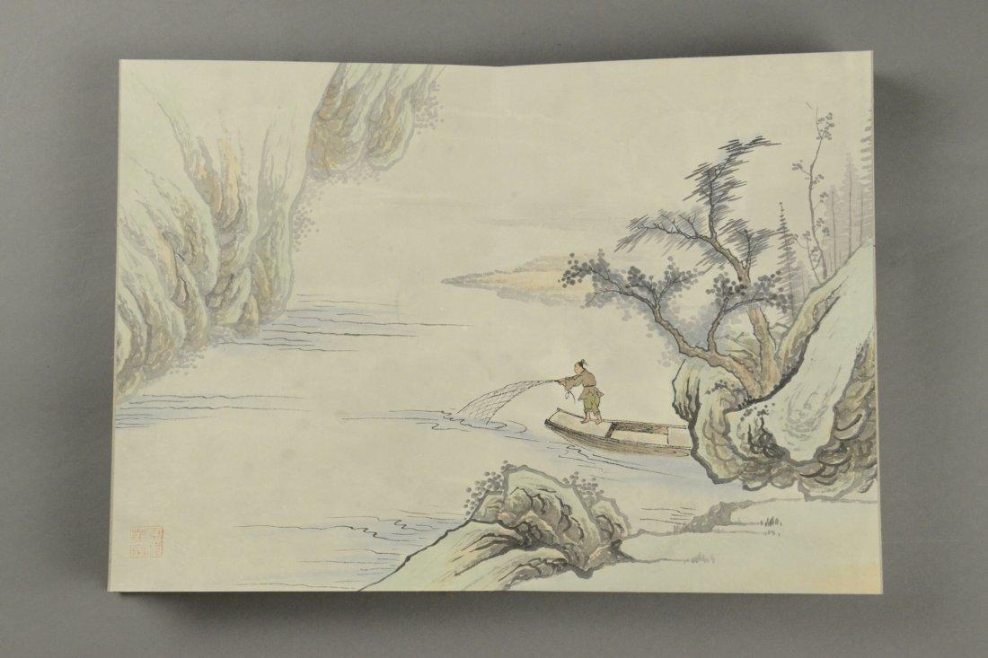 10 Pages Painting Book Signed Wang Yuan Qi - 9
