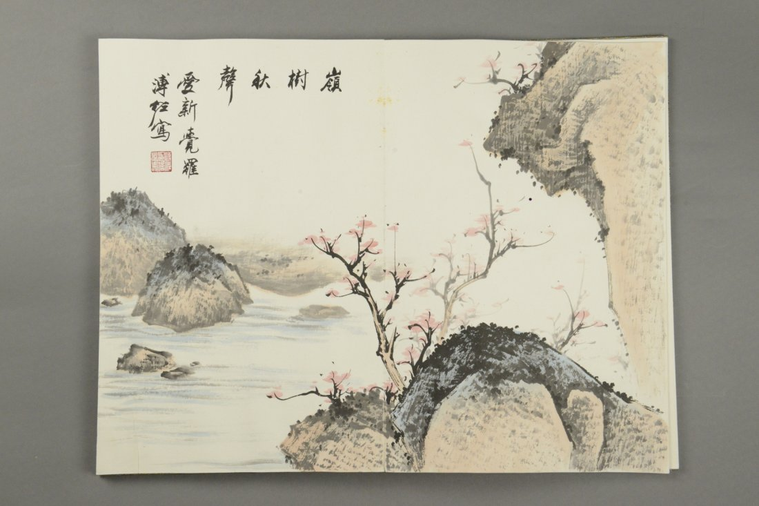 Chinese Watercolour Painting Book Pu Zuo 12 Pages - 4