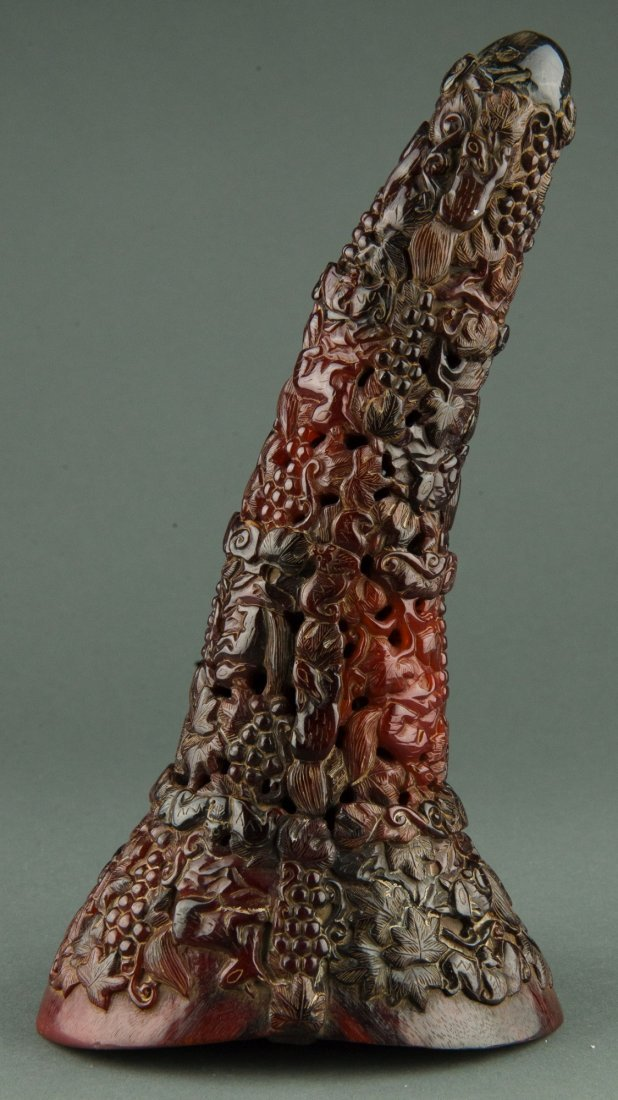 Fine Chinese Rhinoceros Horn Carved Libation Cup