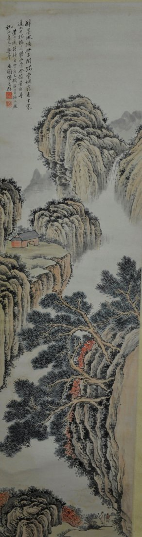 Zhang Shi Yun Chinese Watercolour Painting Scroll