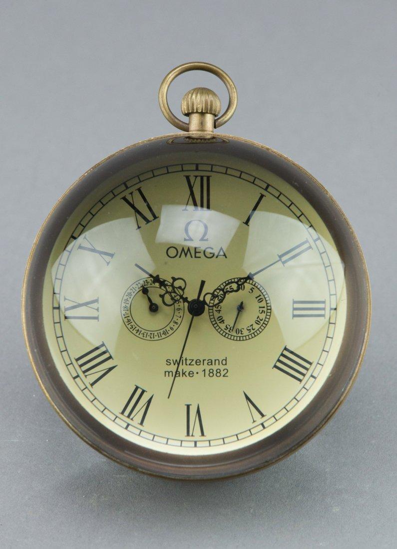 Omega Ball Clock Marked 1882