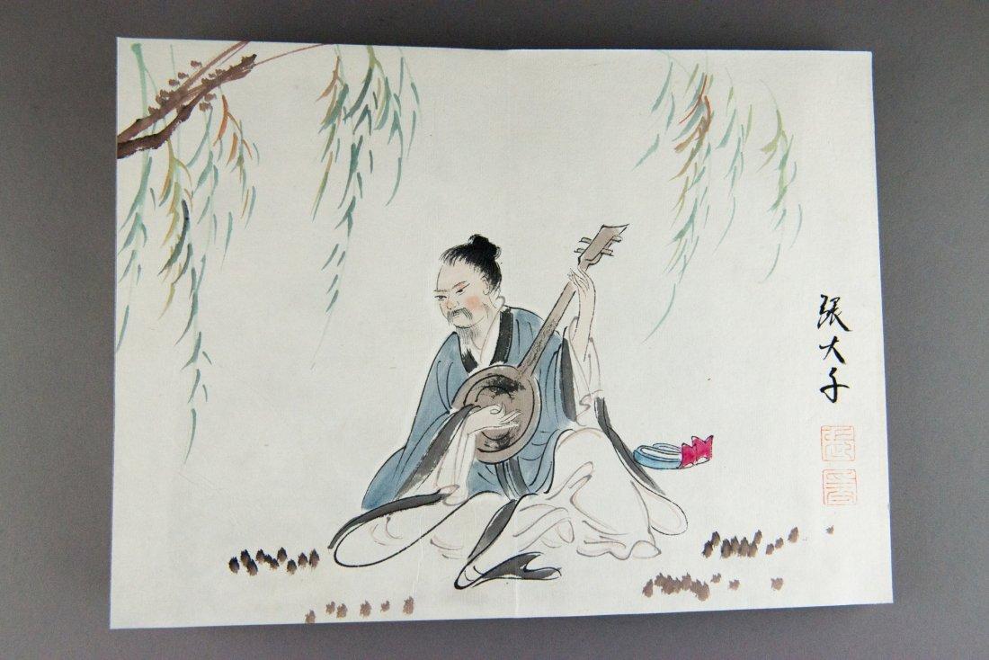 Chinese Painting Book Study Signed Zhang Daqian