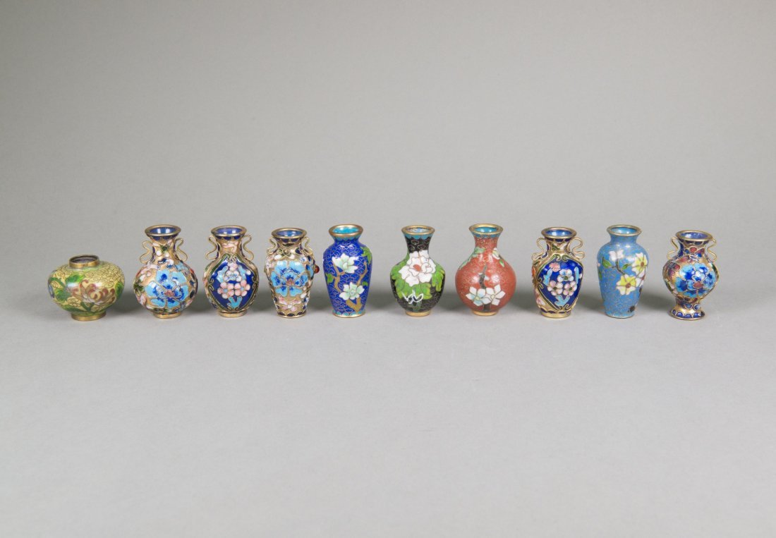 Of 10 chinese miniature cloisonne vases set of 10 chinese miniature cloisonne vases reviewsmspy