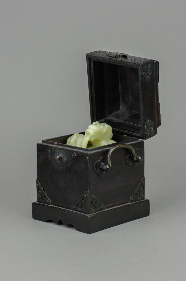 Chinese Rare Yellow Jade Carved Dragon Seal w/ Box