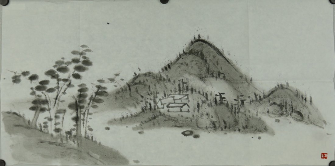 Chinese Ink Landscape Painting Luo Pufu
