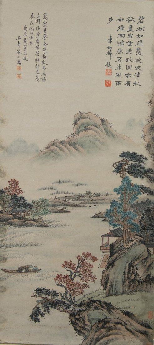 Chinese Painting Landscape Zhang Zhiwan 1811-1897