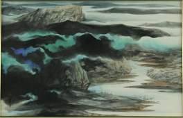 Chinese WC Painting Framed Zhang Daqian 1899-1983