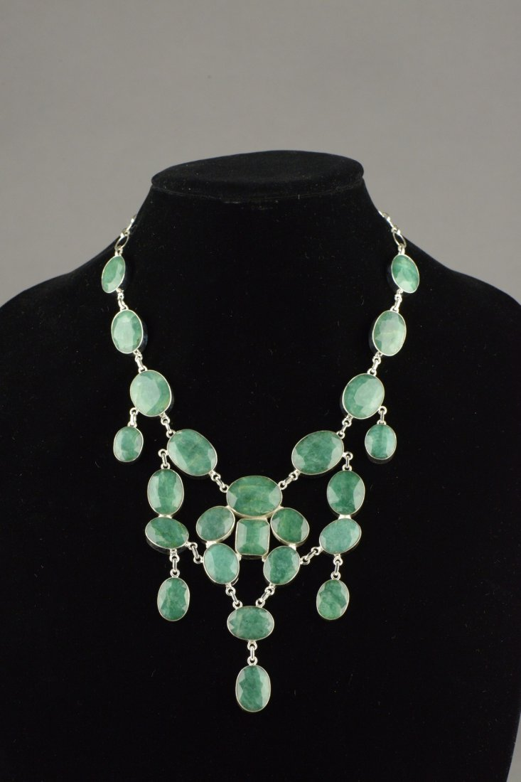 263 Ct Emerald Green Beryl Necklace W Certificate