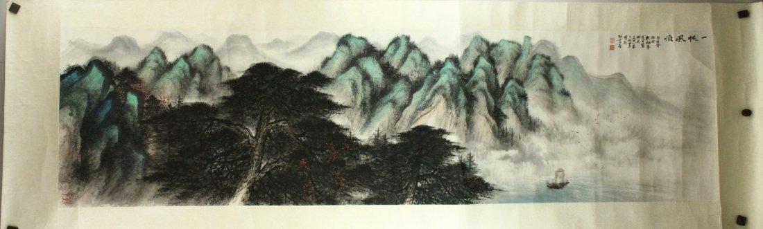 WC Landscape on Paper Li Xiongcai 1910-2001