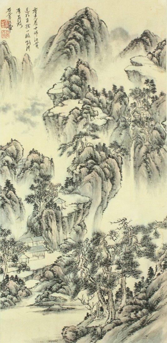 Chinese WC Landscape Painting Wang Hui 1632-1717