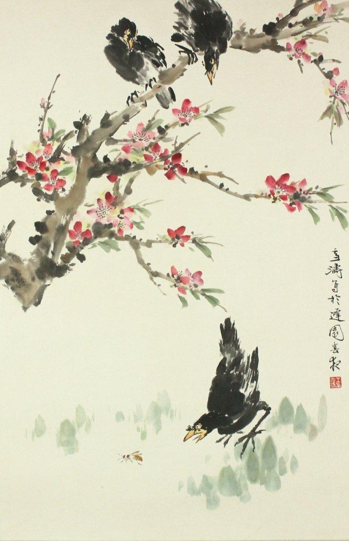 WC Women Painted on Scroll Wang Xuetao 1903-1982