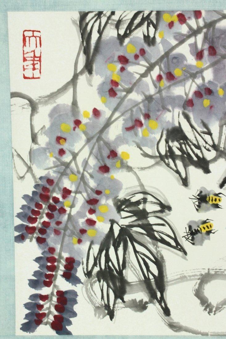 WC Hand Scroll Flower Bird Chen Dayu 1912-2001 - 10