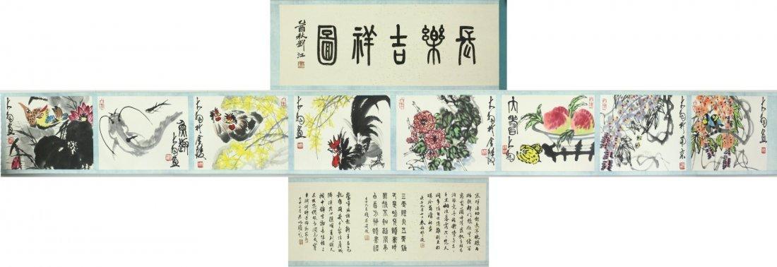 WC Hand Scroll Flower Bird Chen Dayu 1912-2001