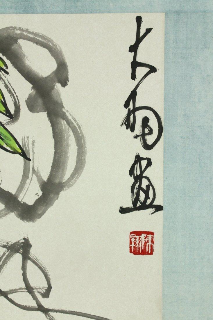 WC Hand Scroll Flower Bird Chen Dayu 1912-2001 - 6