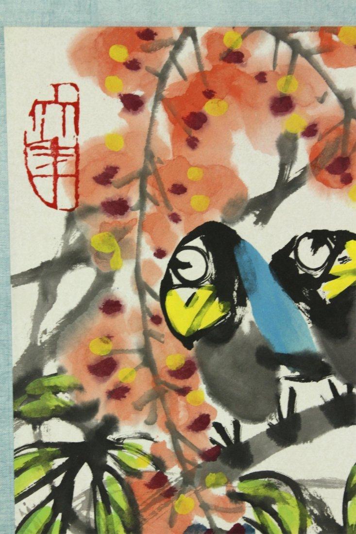WC Hand Scroll Flower Bird Chen Dayu 1912-2001 - 7