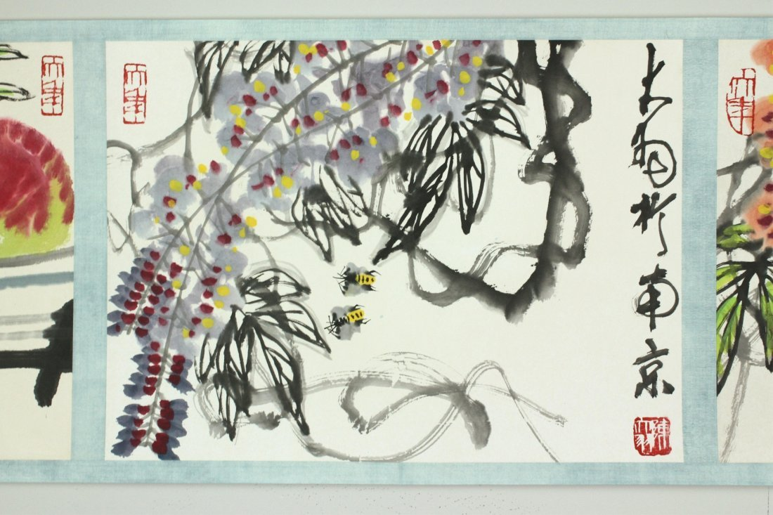 WC Hand Scroll Flower Bird Chen Dayu 1912-2001 - 8