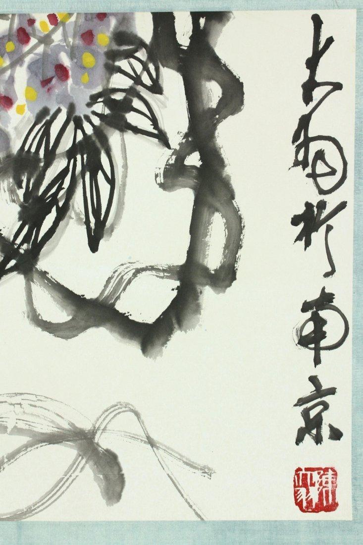 WC Hand Scroll Flower Bird Chen Dayu 1912-2001 - 9