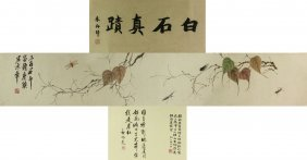 Wc Insects Hand Scroll Qi Baishi 1864-1957