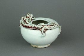 17th Century Chinese Dragon Porcelain Water Pot