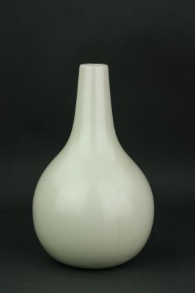 Qing Period Chinese White Porcelain Vase
