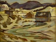 A.Y. Jackson Oil on Panel Canada 1882-1974