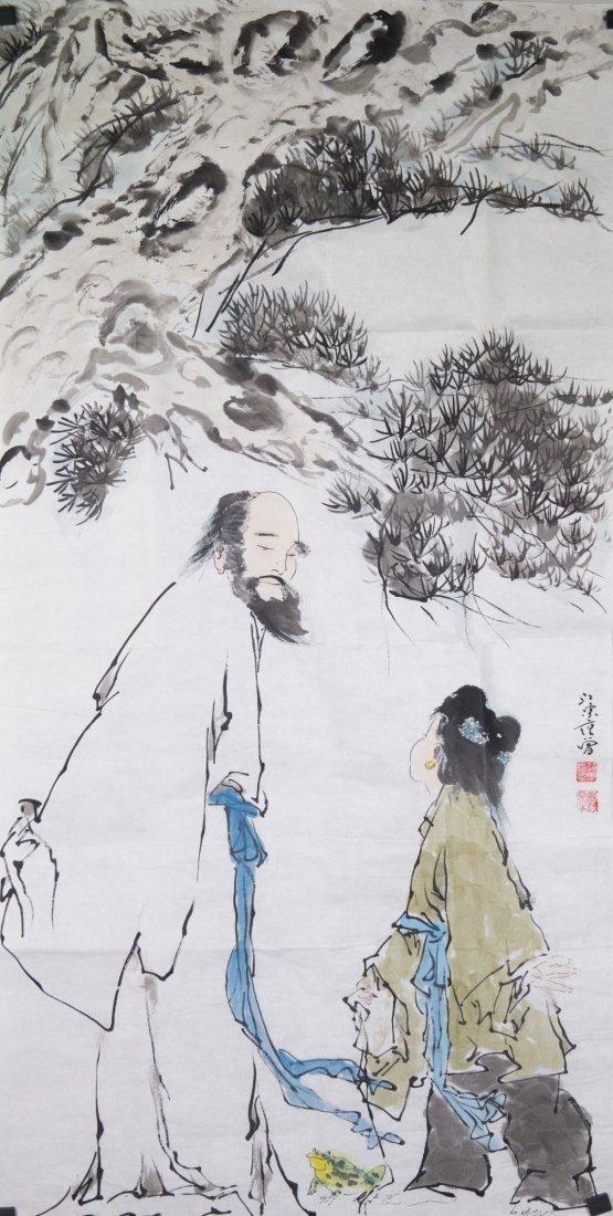 Watercolour on Paper signed Fan Zeng b. 1938