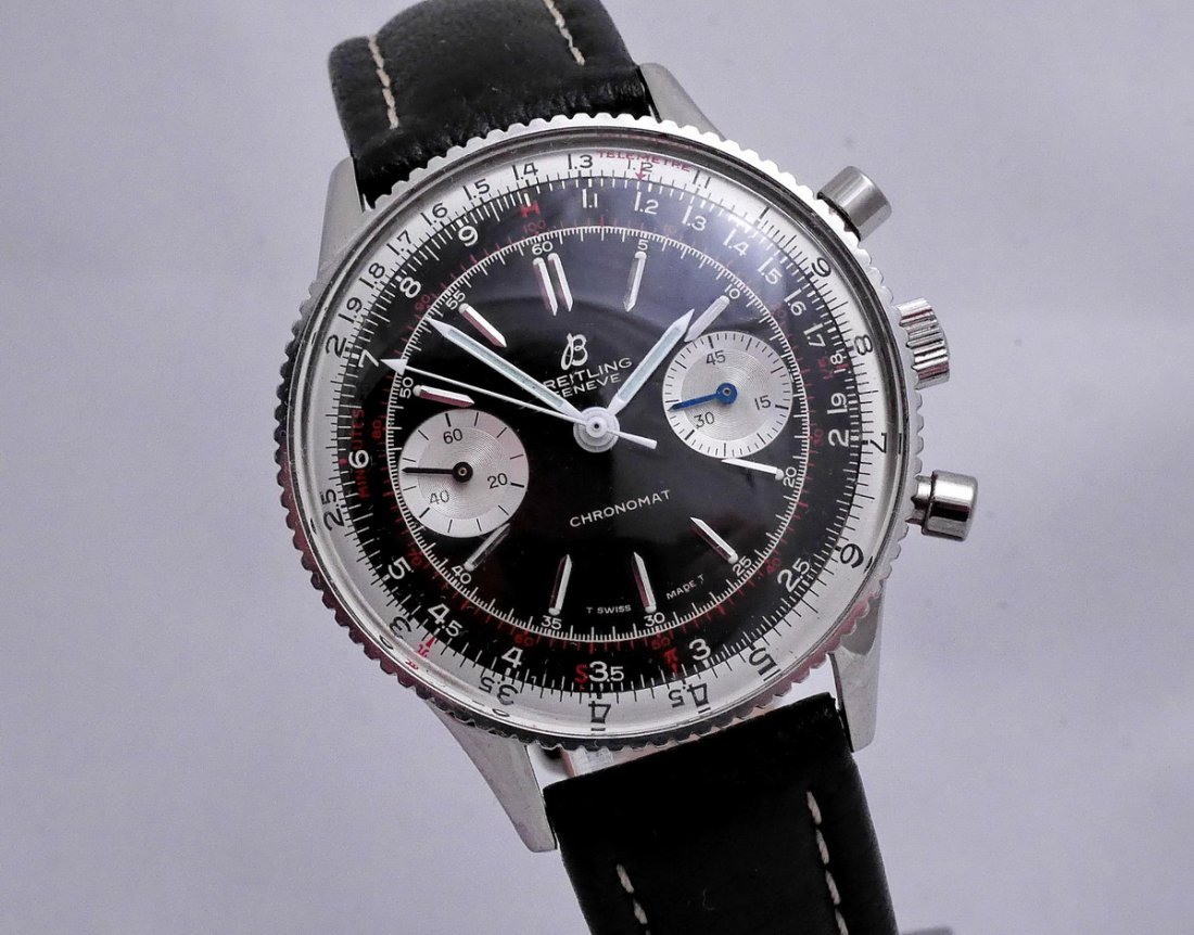 Vintage Breitling Chronomat 217012 Panda Dial 1970 - 9