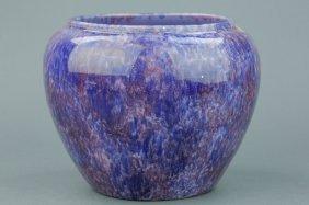 Chinese Flambe Porcelain Jar Purple Hue