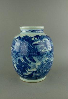 17th C. Chinese Fine Kangxi Style Porcelain Jar