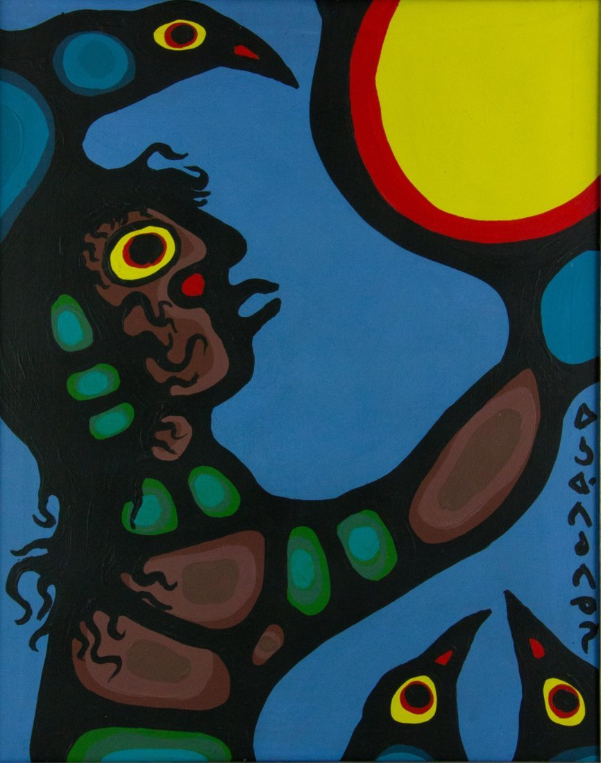 Norval Morrisseau Acrylic on Canvas 1931-2007