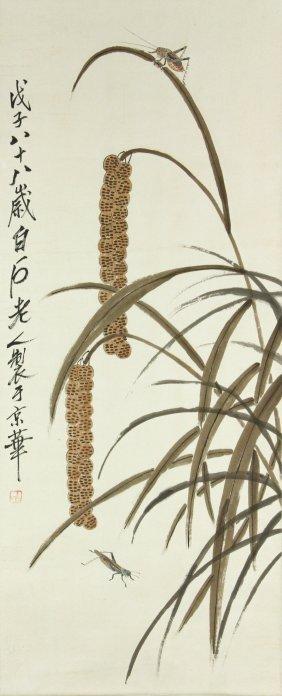Watercolour Painting Scroll Qi Baishi 1864-1957