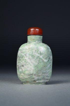Chinese Green Jasper Snuff Bottle