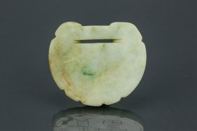 18th C. Chinese Green Jadeite Carved Pendant