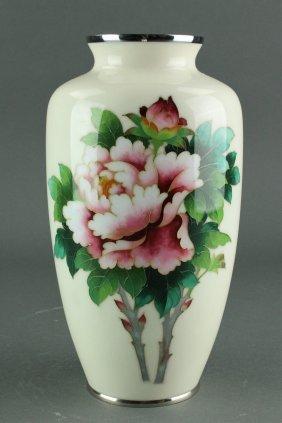 Japanese Cloisonne Enamel Porcelain Vase