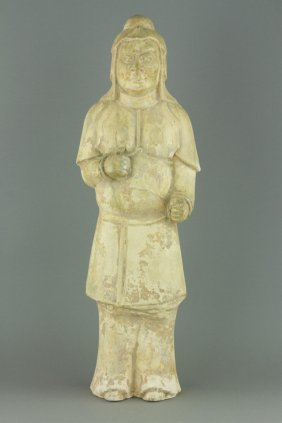 Chinese Tang Period Pottery Warrior Figure