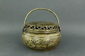 Chinese Bronze Censer Ming Xuande Mk
