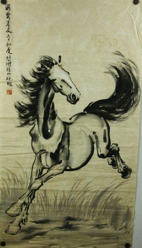 Ink On Paper Running Horse Xu Beihong 1895-1953