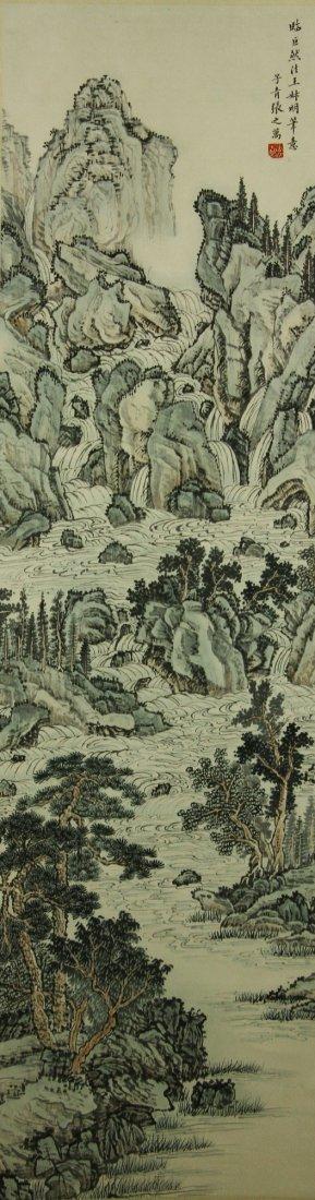Watercolour on Paper Scroll Zhang Zhiwan 1811-1897