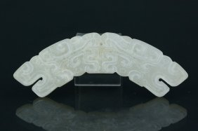 Archaistic Chinese Jade Ritual Huang Ornament