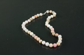 Sterling Silver Natural Opal Necklace Crv $850