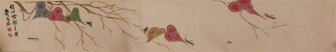 Watercolour on Paper Hand Scroll Attr. Qi Baishi