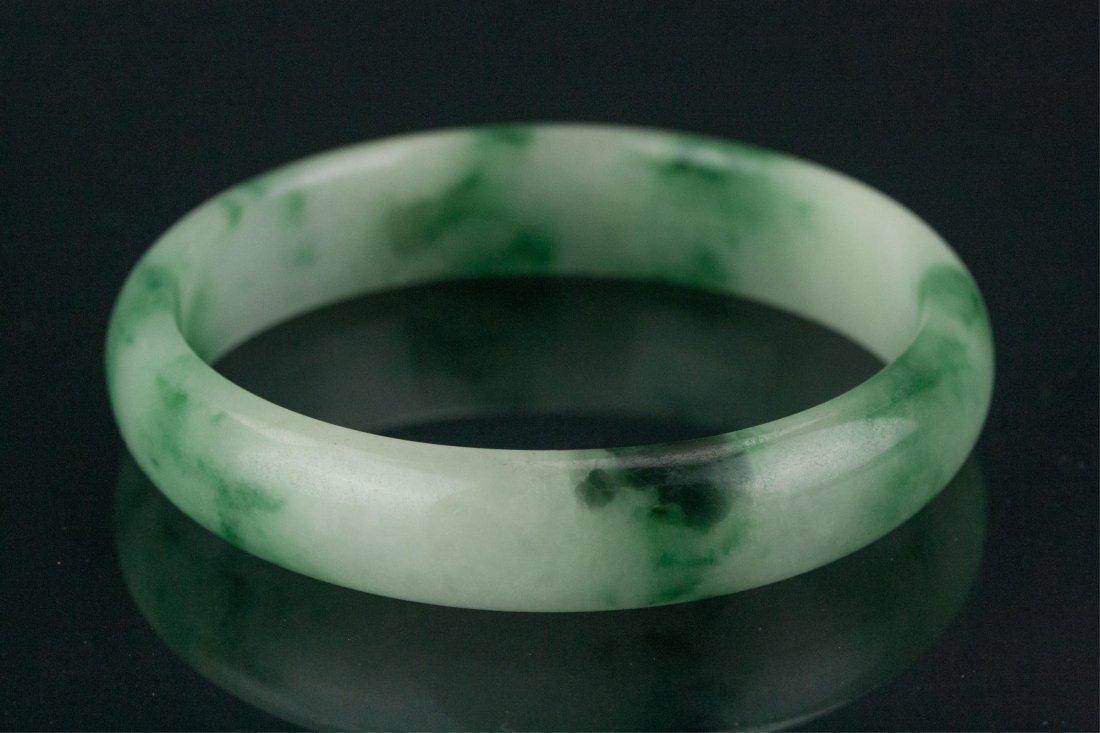 Chinese Green Jadeite Bangle - 2