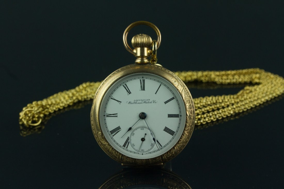 American Waltham Watch Co. Pocket Watch w/ Chains